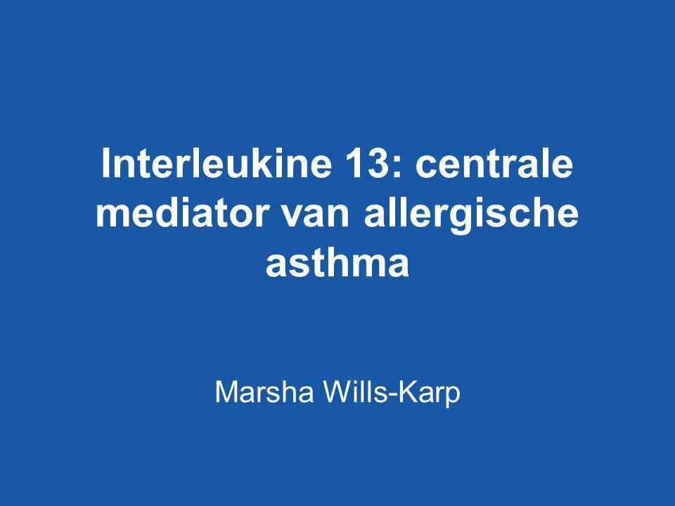 Interleukine 13: centrale mediator van allergische asthma Marsha Wills-Karp