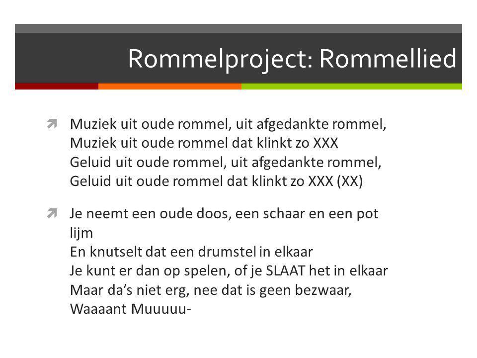 Muzische vorming Les 1  !! Volgende week geen les > vervangende opdracht  Rommelproject  Black Robe  Verschil Muzische Vorming en Muzikale opvoedi