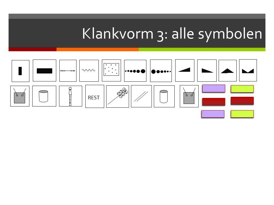 Klankvorm 3: alle symbolen REST