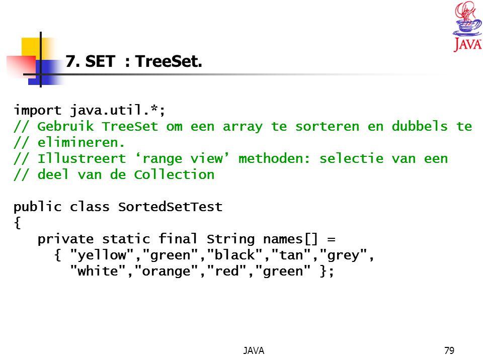 JAVA79 7.SET : TreeSet.
