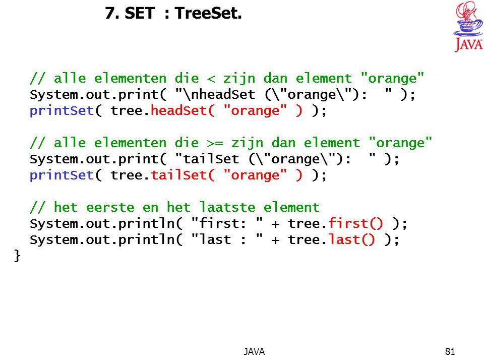 JAVA81 7.SET : TreeSet.