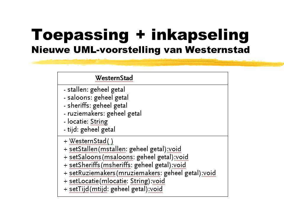 Toepassing + inkapseling Nieuwe UML-voorstelling van Westernstad