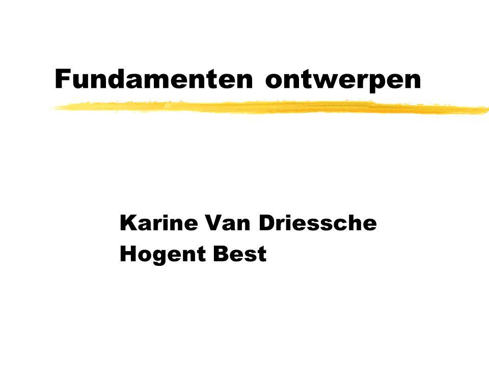 Fundamenten ontwerpen Karine Van Driessche Hogent Best