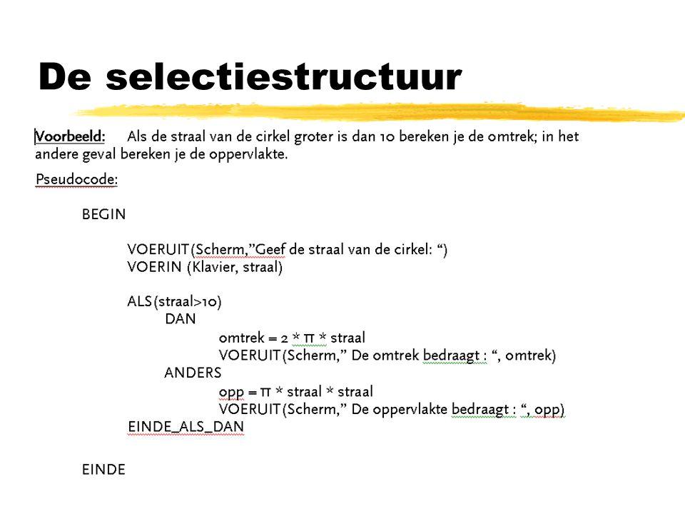 De selectiestructuur