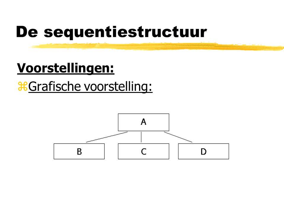 De sequentiestructuur Voorstellingen: zGrafische voorstelling: