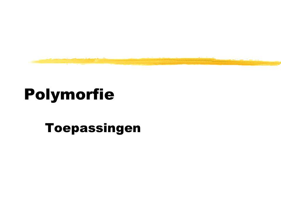 Polymorfie Toepassingen