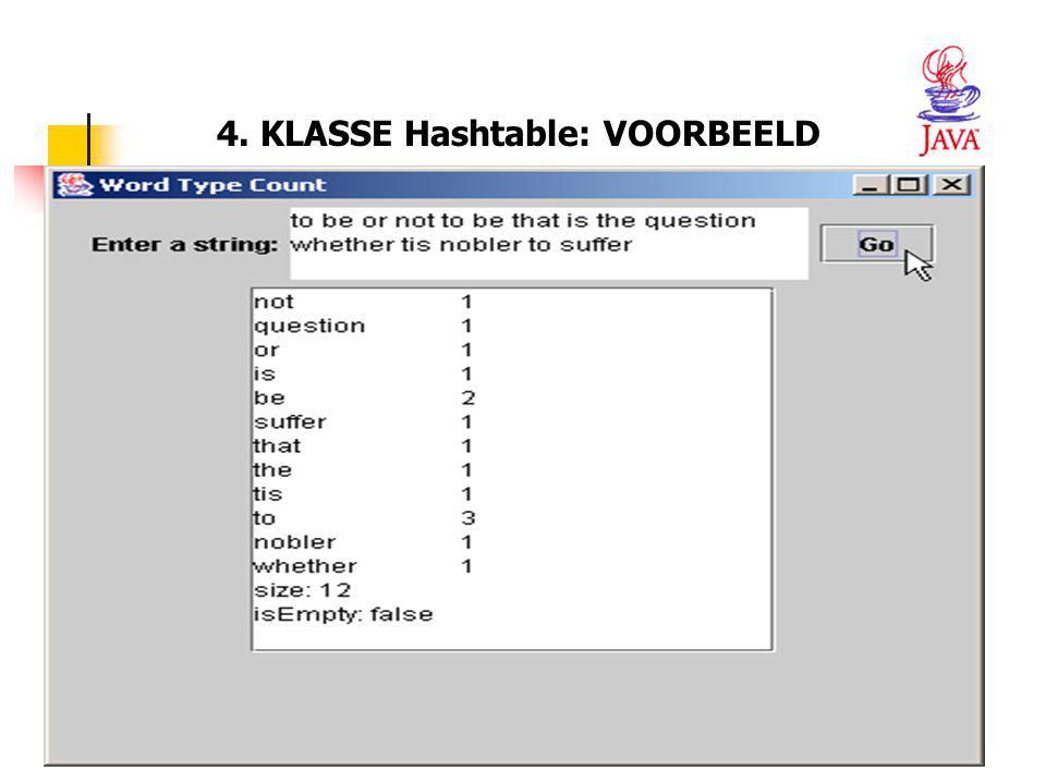 49 4. KLASSE Hashtable: VOORBEELD
