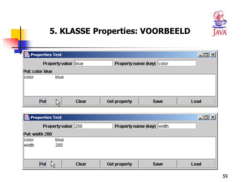 59 5. KLASSE Properties: VOORBEELD