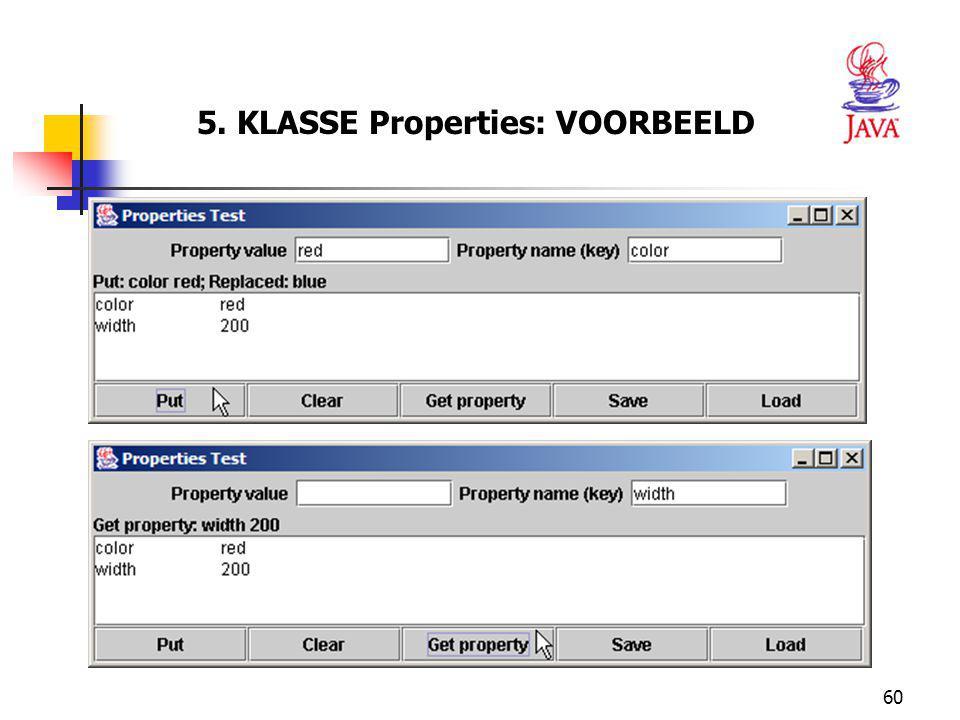 60 5. KLASSE Properties: VOORBEELD