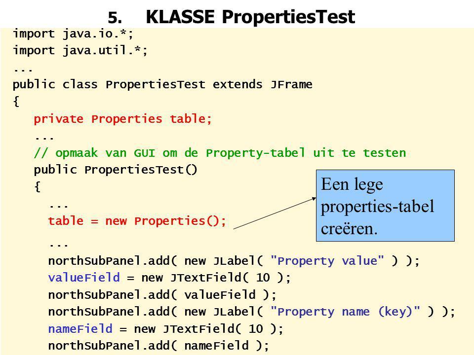 61 5.KLASSE PropertiesTest import java.io.*; import java.util.*;...