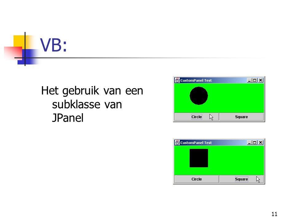 11 VB: Het gebruik van een subklasse van JPanel