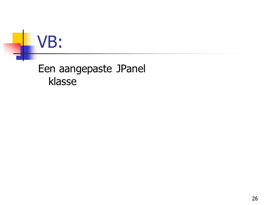 26 VB: Een aangepaste JPanel klasse