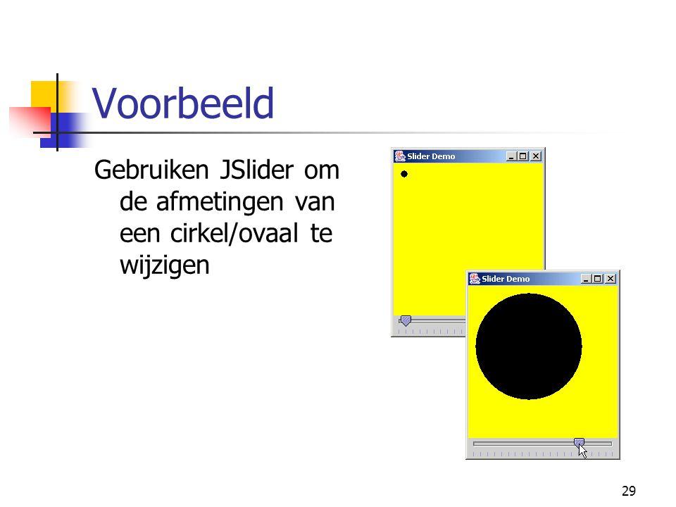 29 Voorbeeld Gebruiken JSlider om de afmetingen van een cirkel/ovaal te wijzigen