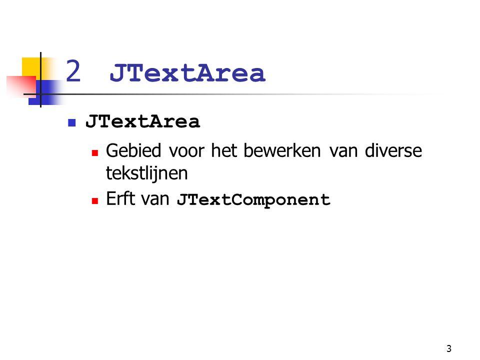 34 7 Gebruik van menu's met Frames Menu's Staat toe om acties uit te voeren met het centraliseren van GUI Beheerst door menu bar JMenuBar Opgebouwd uit menu componenten JMenuItem