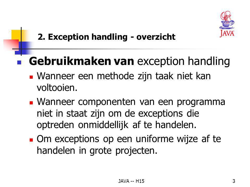 JAVA -- H152 Exception: ongewone of foutieve situatie, bv. delen door nul bij het werken met gehele getallen -> console-applicatie mislukt ; applet ge