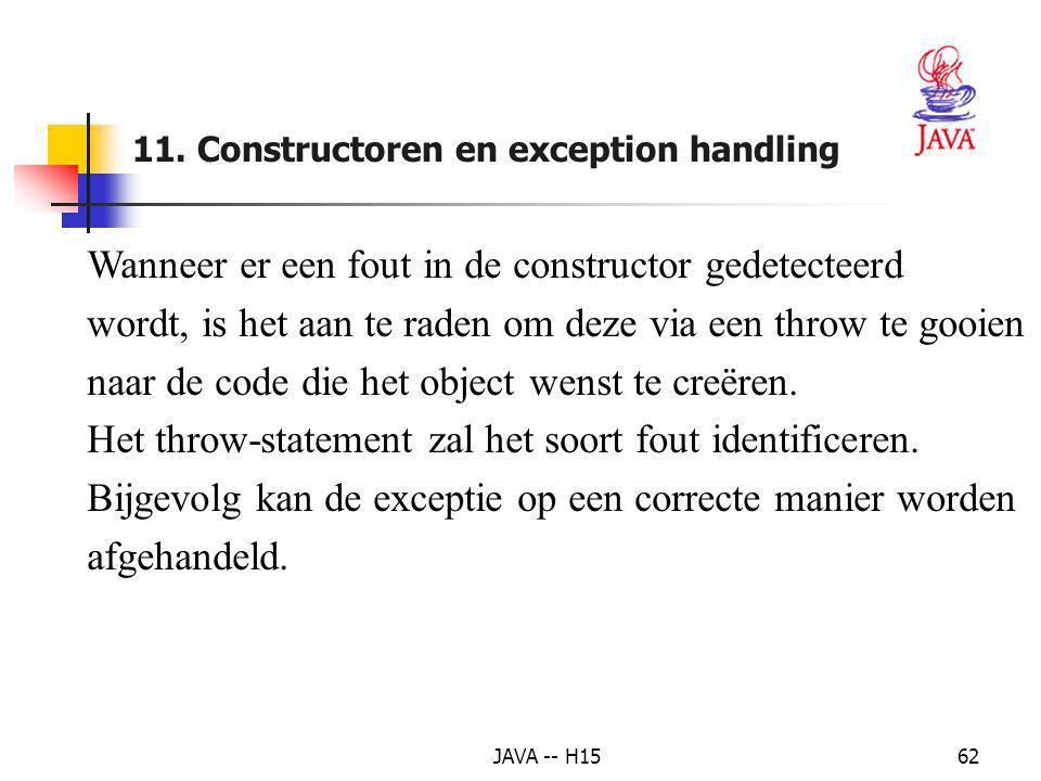 """JAVA -- H1561 8. Voorbeeld : de exceptie """"delen door 0"""" afhandelen (2) 1 // DivideByZeroException.java 2 // Definitie van de class DivideByZeroExcepti"""