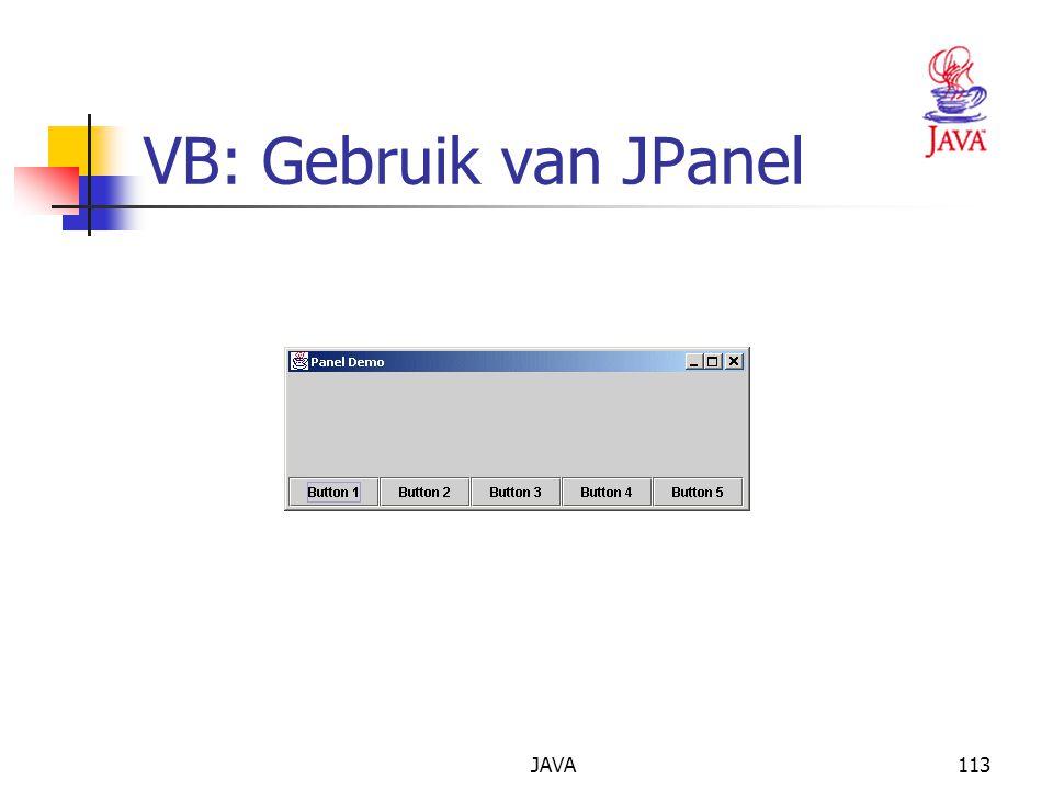 JAVA113 VB: Gebruik van JPanel