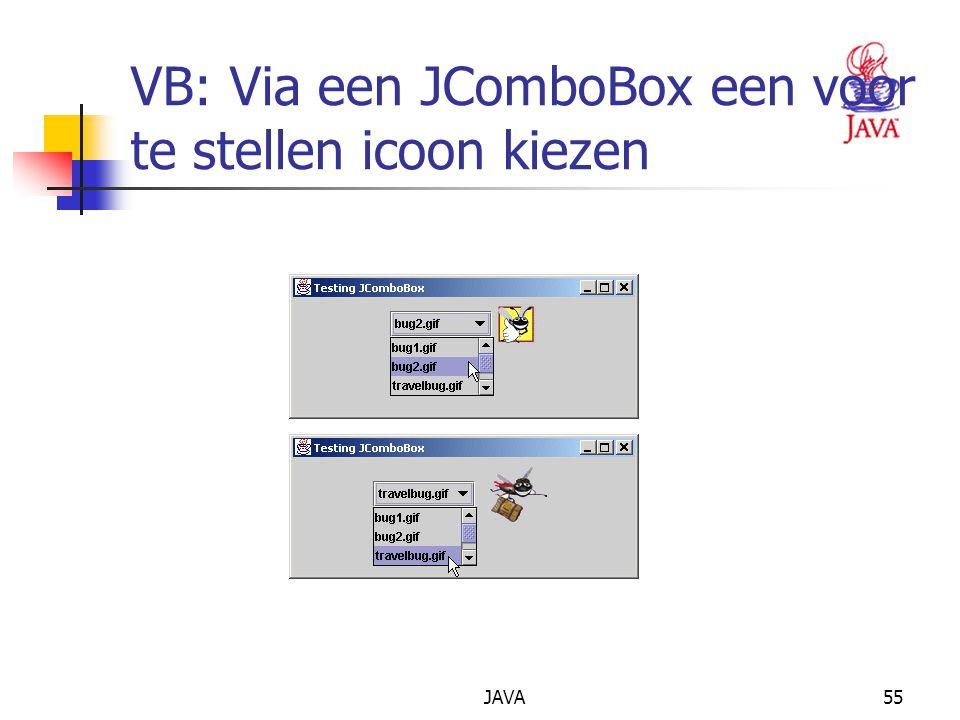JAVA55 VB: Via een JComboBox een voor te stellen icoon kiezen