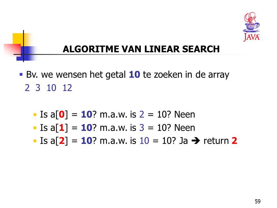 59 ALGORITME VAN LINEAR SEARCH  Bv.