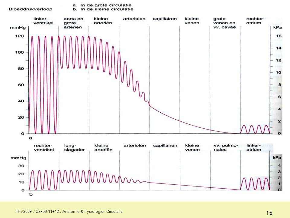 FHV2009 / Cxx53 11+12 / Anatomie & Fysiologie - Circulatie 15