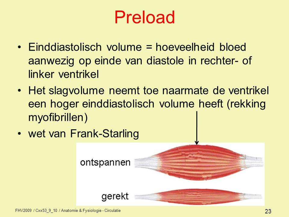 FHV2009 / Cxx53_9_10 / Anatomie & Fysiologie - Circulatie 22