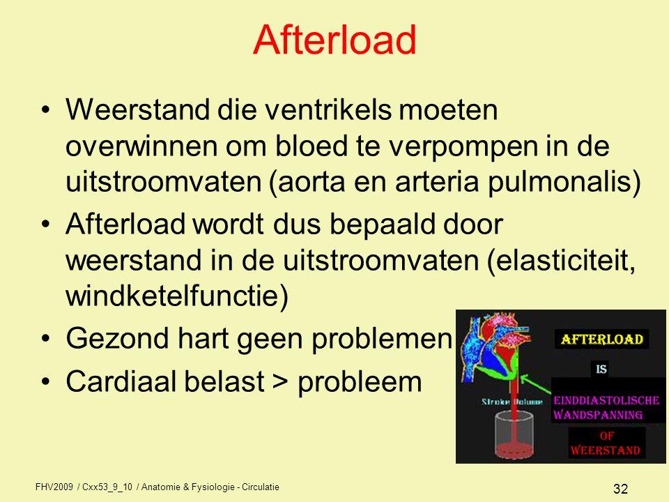 FHV2009 / Cxx53_9_10 / Anatomie & Fysiologie - Circulatie 31