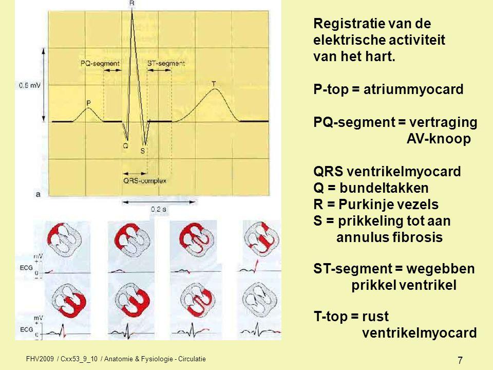 6 Hartactie contractiefasen Hart kent een aantal fasen waarin contractie en vulling plaatsvindt.