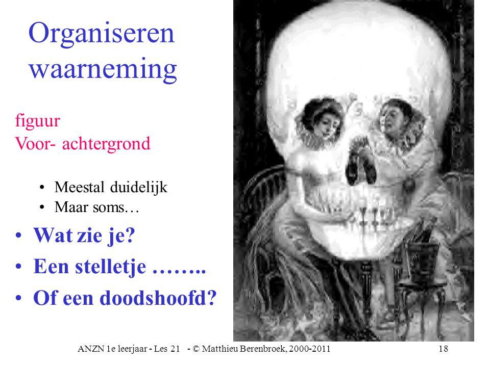 ANZN 1e leerjaar - Les 21 - © Matthieu Berenbroek, 2000-201119 Groeperen Aanvullen Boom is die er.
