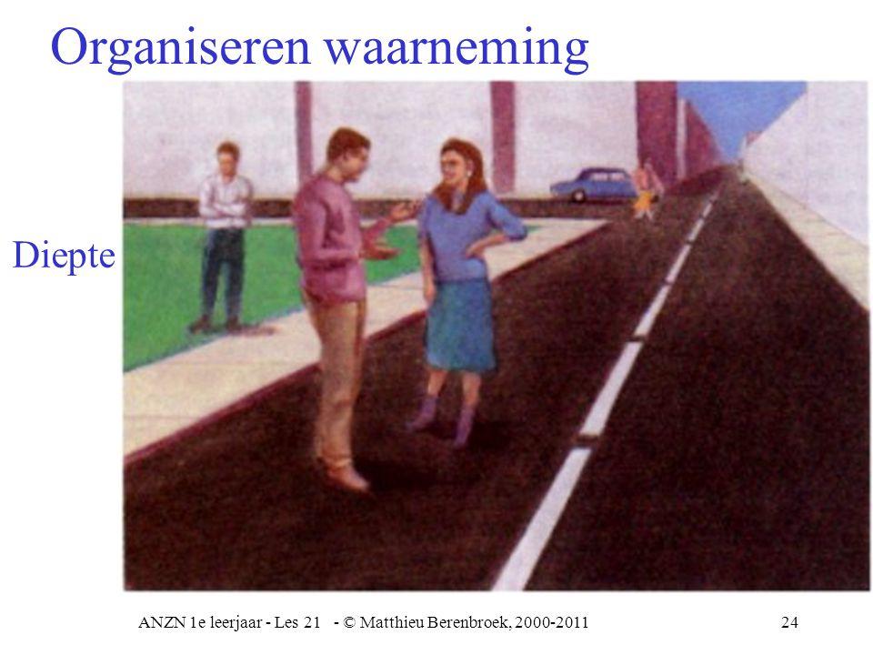 ANZN 1e leerjaar - Les 21 - © Matthieu Berenbroek, 2000-201125 Organiseren waarneming Zwart en wit Hoeveel zwarte puntjes tel je.