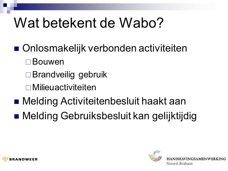 Wat betekent de Wabo.