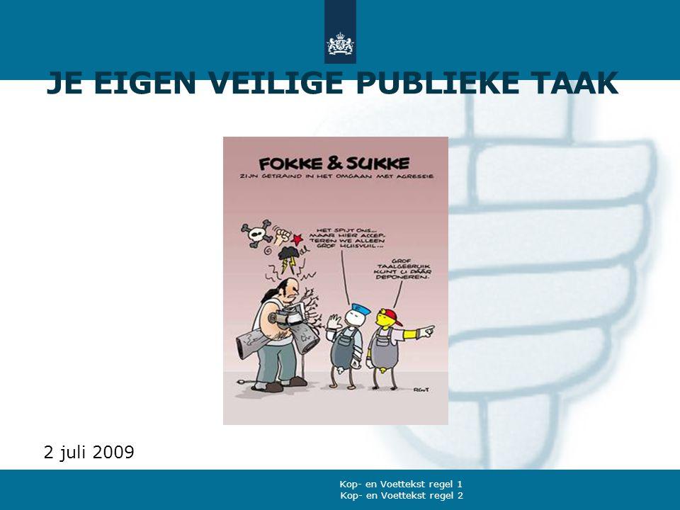 Kop- en Voettekst regel 2 Kop- en Voettekst regel 1 JE EIGEN VEILIGE PUBLIEKE TAAK 2 juli 2009