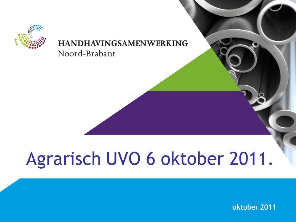 Agrarisch UVO 6 oktober 2011. oktober 2011