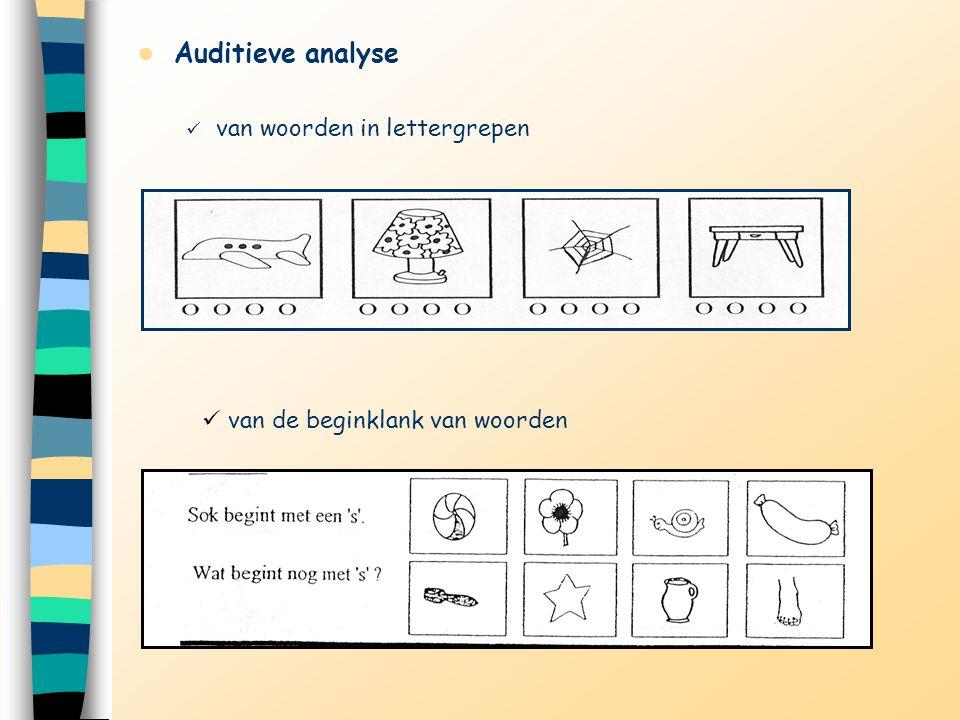 Auditieve analyse van woorden in lettergrepen van de beginklank van woorden