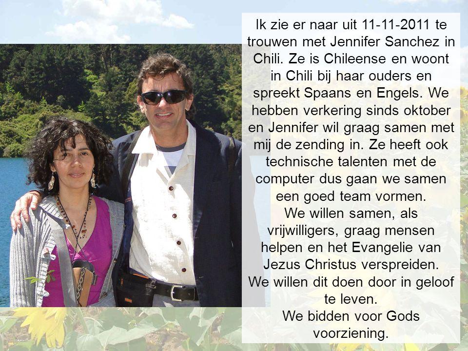Ik zie er naar uit 11-11-2011 te trouwen met Jennifer Sanchez in Chili.