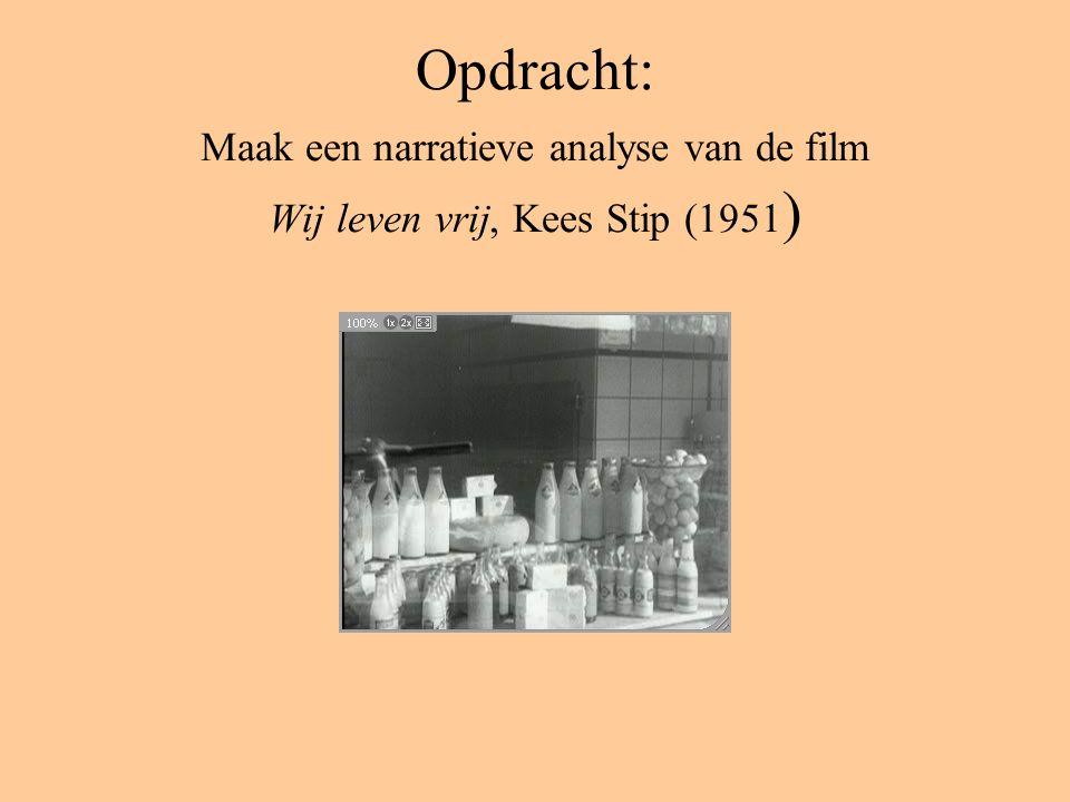Opdracht: Maak een narratieve analyse van de film Wij leven vrij, Kees Stip (1951 )