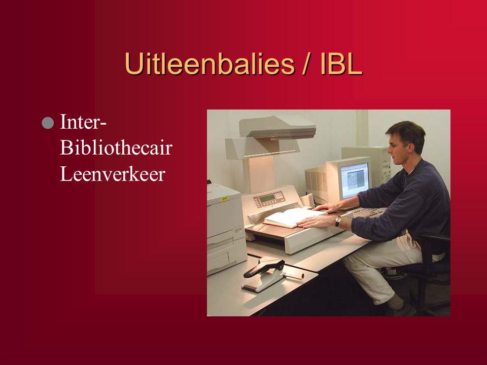 Uitleenbalies / IBL l Inter- Bibliothecair Leenverkeer IBL