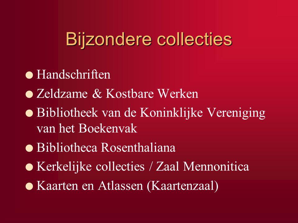 Bijzondere collecties l Handschriften l Zeldzame & Kostbare Werken l Bibliotheek van de Koninklijke Vereniging van het Boekenvak l Bibliotheca Rosenth