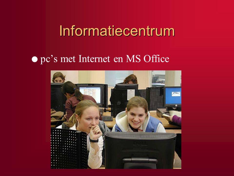 Informatiecentrum l pc's met Internet en MS Office