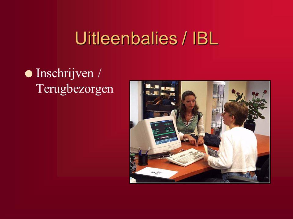 Uitleenbalies / IBL l Inschrijven / Terugbezorgen