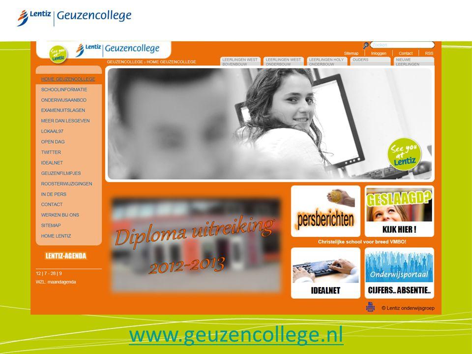 De website www.geuzencollege.nl www.geuzencollege.nl