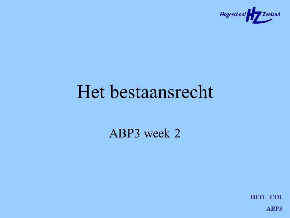 HEO –CO1 ABP3 Agenda Doelstellingen Hoofdstuk 2 t/m 2.2.4 Voorbereiding volgende week Opdracht