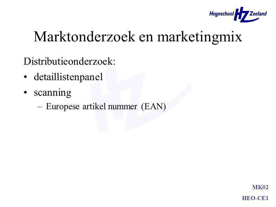 Marktonderzoek en marketingmix Communicatieonderzoek: Merknaamonderzoek (mijn mening) –(on)geholpen merkbekendheid Pre-tests en post-tests (Dagmar-mod
