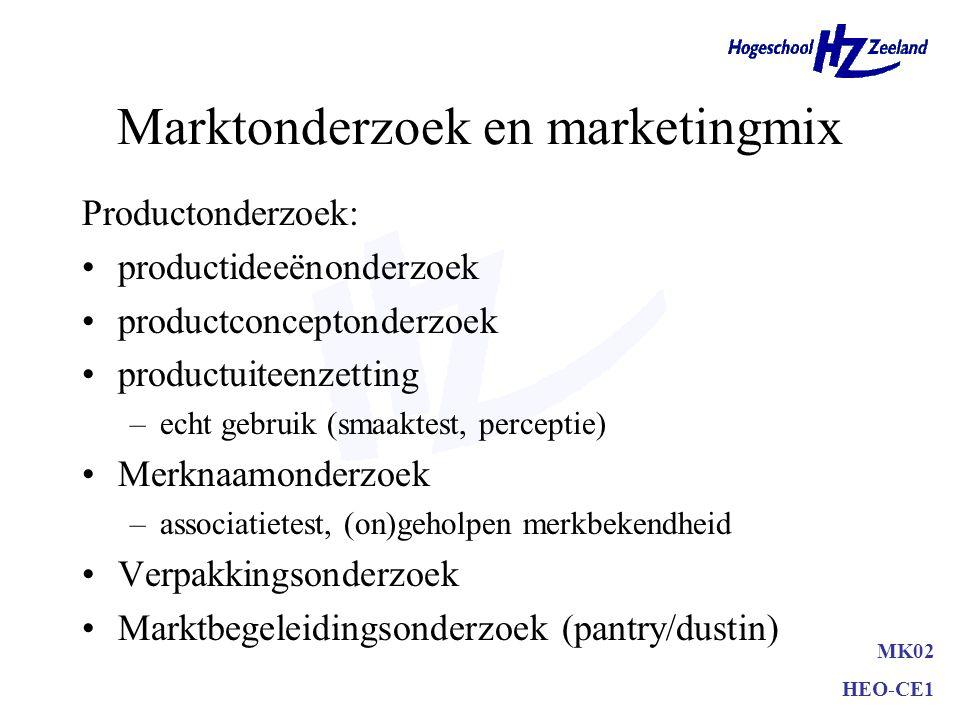 Wat is Testmarketing Grondslagen testmarketing –normale distributie- en reclamemogelijkheden –afgesloten geheel –normale inspanning marketingmix –reke