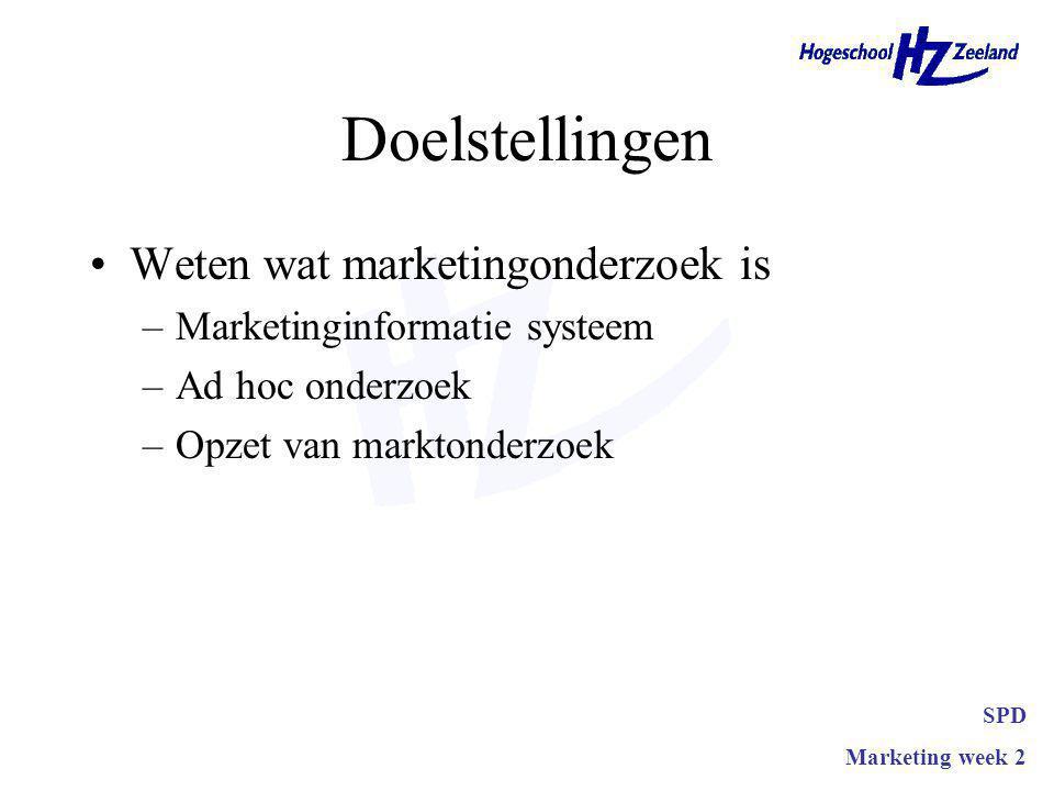Vragen? SPD Marketing week 2