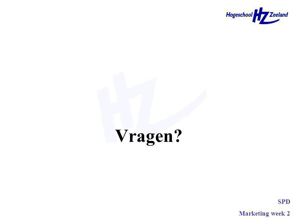 Vragen? SPD Marketing week 2