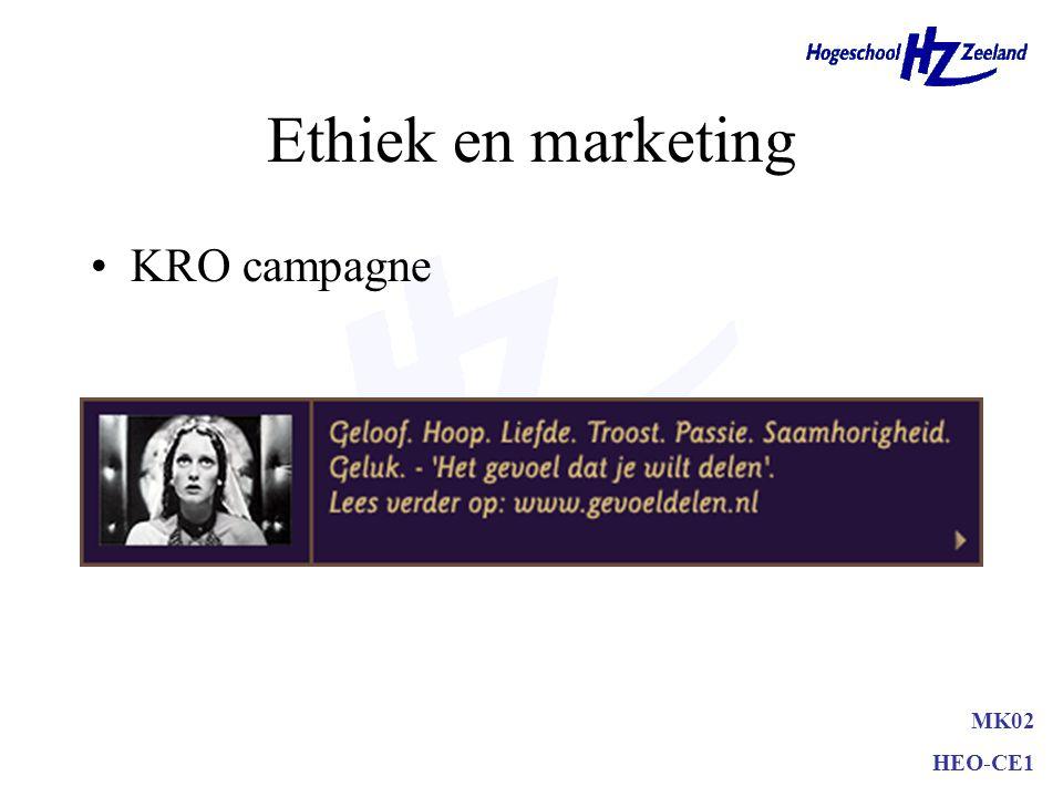 Ethiek en marketing KRO campagne MK02 HEO-CE1