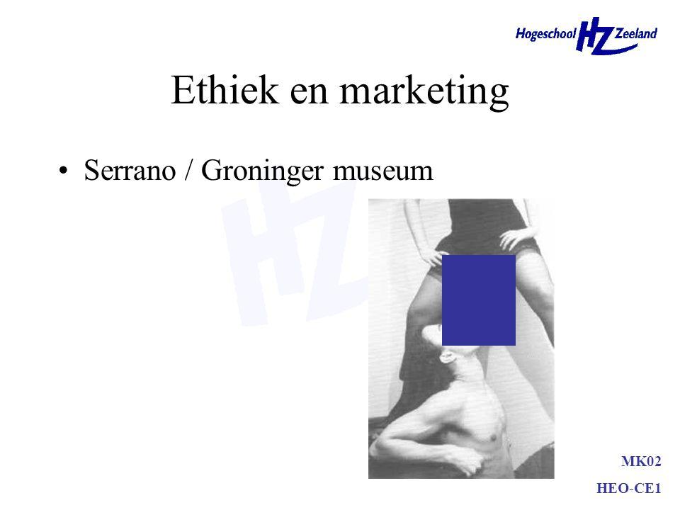 Samenvatting Ethiek –meer dan wet –persoonlijk Business Ethics –Beïnvloeding maatschappij, bedrijfsleven en onderneming Marketing en ethiek –Gedragscode/doelgroep –Maatschappelijk marketing concept MK02 HEO-CE1
