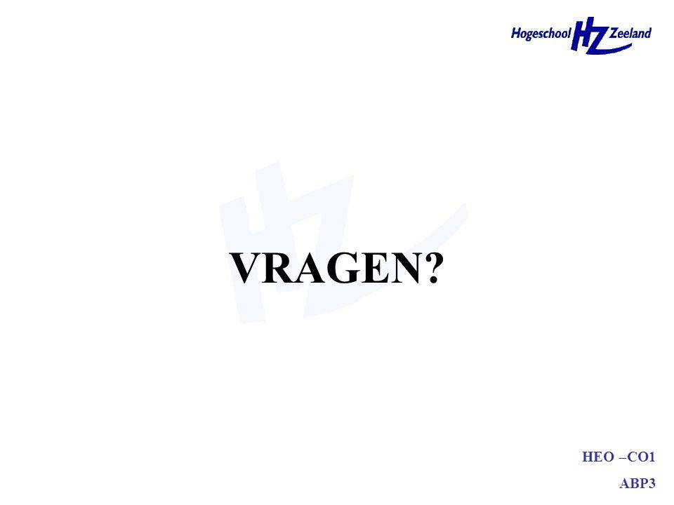 HEO –CO1 ABP3 VRAGEN