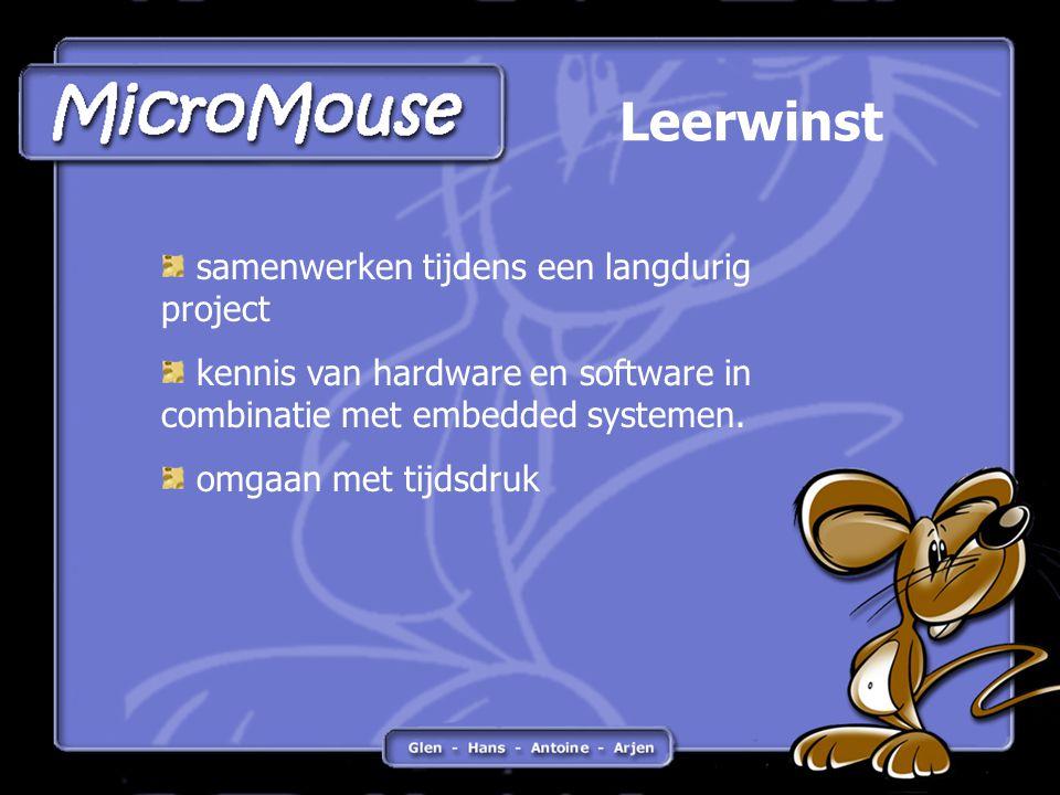 Leerwinst samenwerken tijdens een langdurig project kennis van hardware en software in combinatie met embedded systemen.