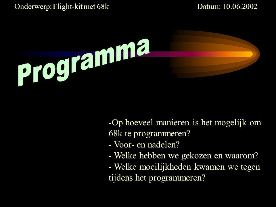-Op hoeveel manieren is het mogelijk om 68k te programmeren.